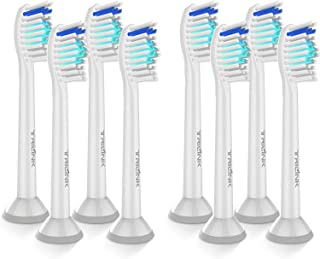 TriLink Replacement Brush Heads for Philips Sonicare Electric Toothbrush | 8 Pack | fit DiamondClean, HealthyWhite, FlexCare,EasyClean, Plaque Control,Gum Health and More Sonicare Snap-On Handles