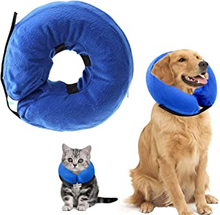 I-PET Dog Cone Collar Soft - Inflatable Dog Collars for After Surgery, Protective Collar for Dogs