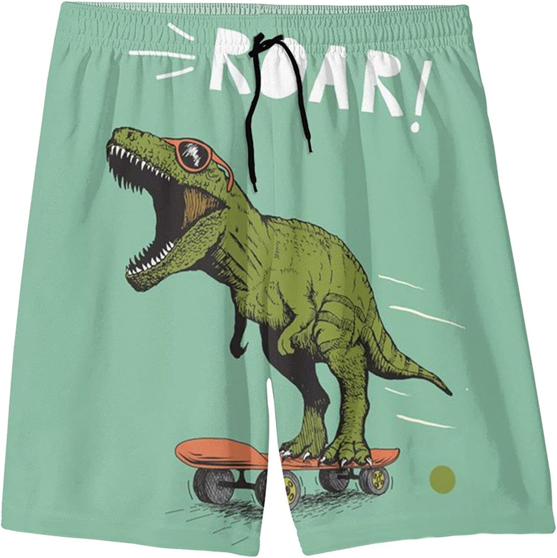 Discount mail order Bhrose Dinosaur Mens Swim Max 81% OFF Trunks 3D Print Swimwear Dry Quick Cas