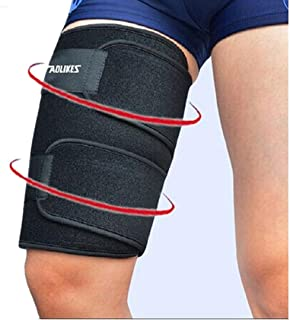 Kagogo Thigh Compression Sleeves (1 sleeve) Men, Women & Youth Hamstring Pain/ Quad Support & Recovery - Reduce Groin Strains & Cramps - Snug & Warm For Tennis, Soccer, Basketball Sports