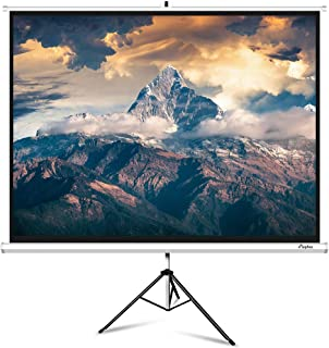 Projector Screen with Stand, ELEPHAS Portable 100 Inch 4: 3 Indoor & Outdoor Pull Down Projection Screen with Solid Connecting Knob & Tripod Stand, 1.1 Gain, Wrinkle-Free
