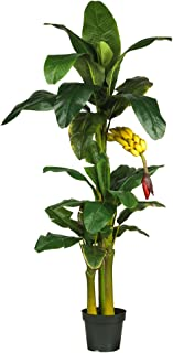 Nearly Natural 5226 6ft. Triple Stalk Banana Silk Tree