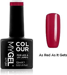 Esmalte de gel para uñas MyGel, de MYLEE (10ml) MG0009 - As Red As It Gets UV/LED Nail Art Manicure Pedicure para uso profesional en el salón y en el hogar - Larga duración y fácil de aplicar