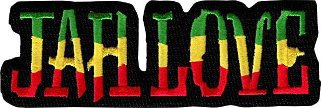 Jah Love - Bold Rastafarian Colors - Embroidered Iron On or Sew On Patch