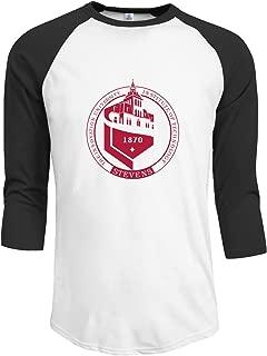 Stevens Institute of Technology Men's Custom Raglan T Shirt