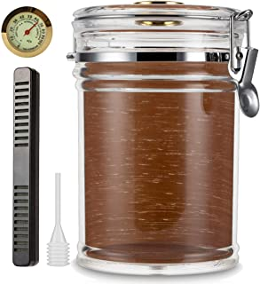 XIFEI Acrylic Humidor Jar with Humidifier and Hygrometer,humidor That can Hold About 15-20 Cigars (Clear - B)