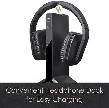Avantree HT280 Wireless Headphones for TV Watching with 2.4G RF Transmitter Charging Dock, Digital Optical System, Hi...