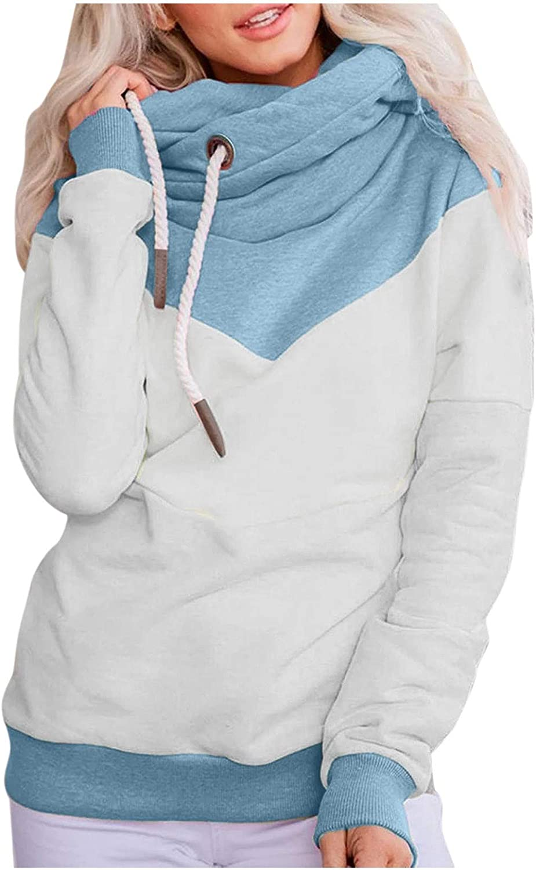 Womens Hoodies Pullover, Women Girls Fashion Long Sleeve Crop Top Hoodie Sweatshirts Casual Loose Pullover Tops