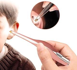 HKXR Children Ear Cleaner Earpick LED Flashlight Earpick Earwax Remover Hygiene Ear Curette Kids Ear Spoon Ear Care Cleani...