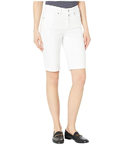 NYDJ Briella Shorts with Mock Fly and Roll Cuff in Optic White (Optic White) Women