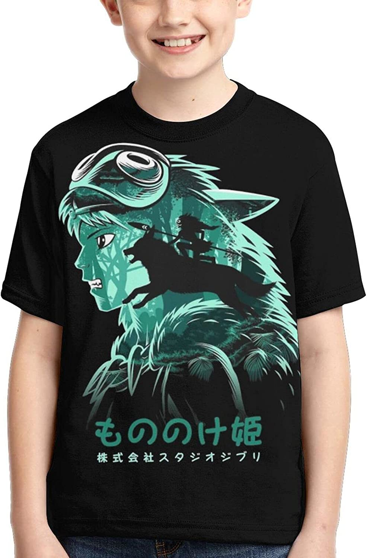 Princess Mononoke Shirts Crew Neck Children's Anime T-Shirt Funny Tee Tops