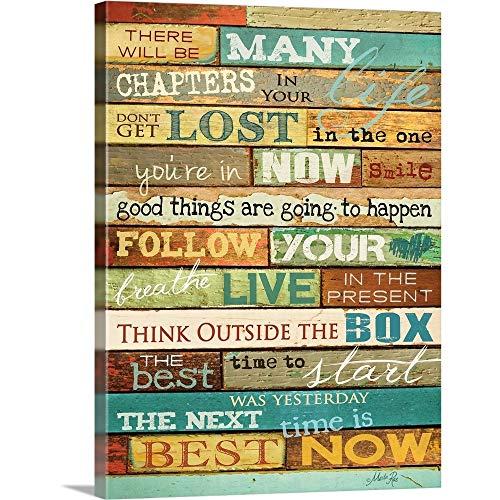 Your Life Canvas Wall Art Print, Word Artwork