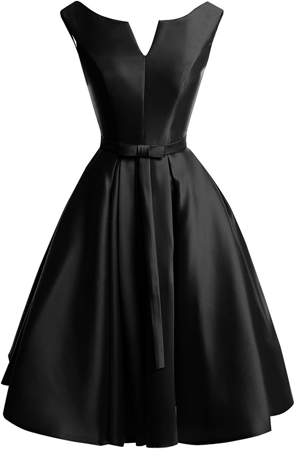 Bess Bridal Women's Lace Up A Line Knee Length Christmas Prom Homecoming Dress