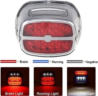 PBYMT LED Tail Light Rear Taillight Brake Turn Signal Light Running Light License Plate Light Compatible for Harley Road King Electra Glide Road Glide FLHX FLHTCUSE 1999-2020 (Chrome)