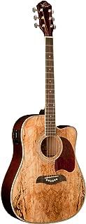 Oscar Schmidt OG2CESM Select Spruce Mahogany Dreadnought Acoustic-Electric Guitar - Spalted Maple