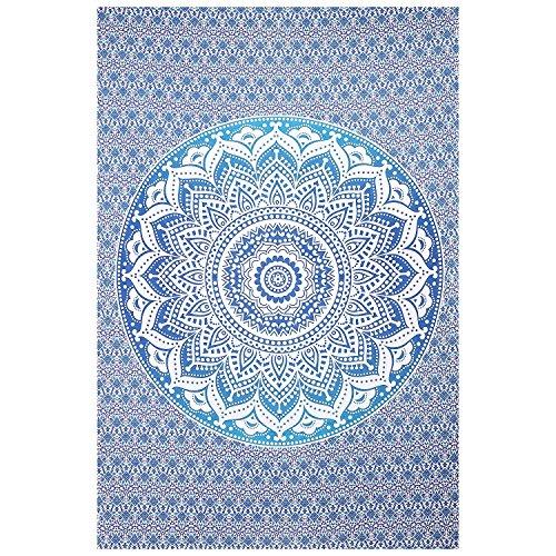Bohemio Mandala tapiz Algodón Indio Colgante de pared hecho a mano decorativo estilo tradicional funda para mesa tapicería étnica Decoración del hogar Playa Manta esterilla de yoga Art