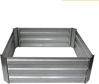 育てられた庭のベッド、屋外上のグラウンドガーデンプランターベッドボックス野菜プランター亜鉛メッキ鋼製のアースプランターボックスは、花の野菜のハーブを栽培するための