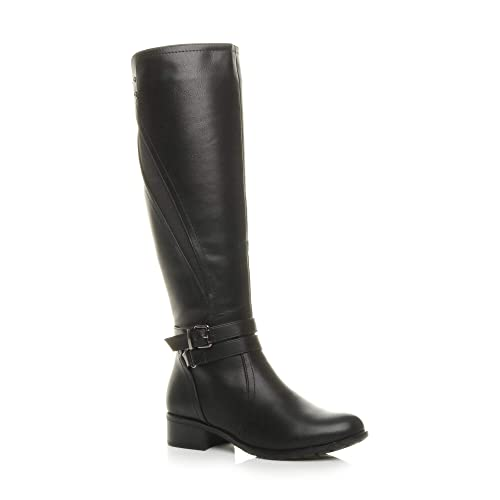 Womens Black Leather Boots: Amazon.co.uk