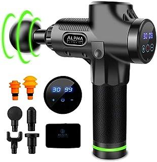 Alpha Kinetics Deep 30 Speed Massage Gun Handheld Cordless Muscle Tissue Massager Gun for Muscle Deep Relaxation 30 Speeds...