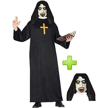 Disfraces Halloween Disfraz de Monja Fantasma para Hombre: Amazon ...