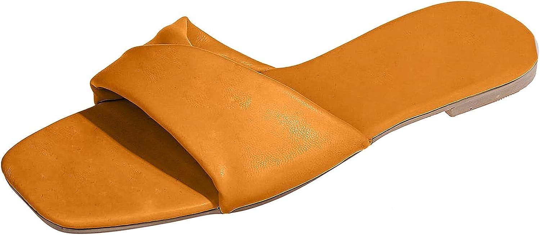 PLENTOP Women's Slide Sandal Chain Flat Slip High order Fresno Mall Serpentine Printed