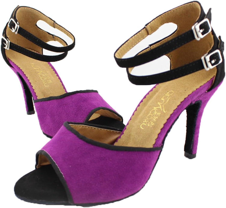 WYMNAME Womens Latin Dance shoes,Gb Social Dancing shoes Sandal Ballroom Dance shoes