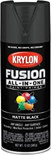 Krylon K02754007 Fusion All-in-One Spray Paint, Black