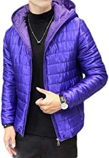 pipigo Men Winter Thicken Zip Front Warm Loose Hooded Down Quilted Coat Jacket Overcoat