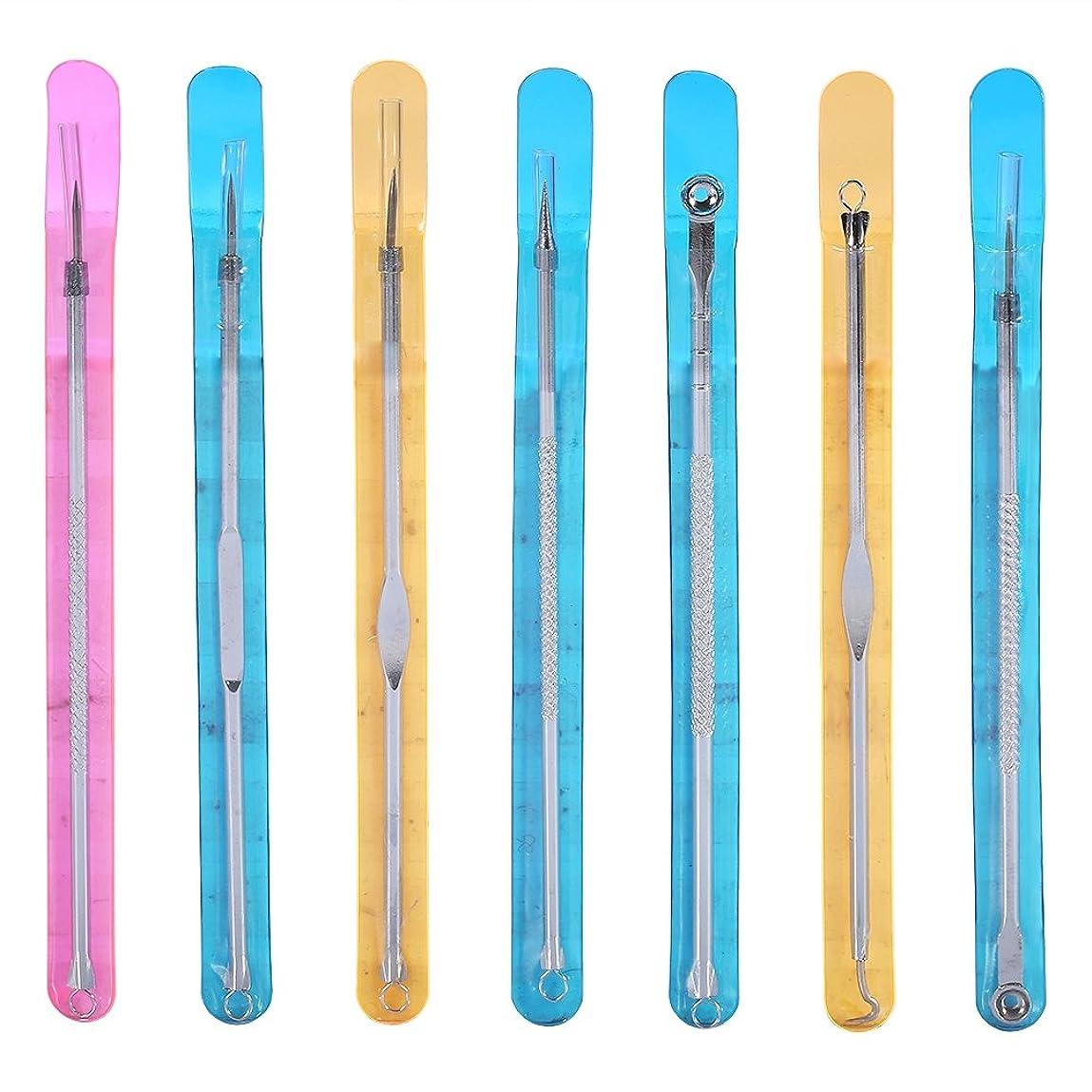 真剣に基礎理論大通り毛穴ケア専用キット - Dewin 針 ニキビ、ニキビ取り、ステンレス製、抗菌、多機能、初心者、7本セット、シルバー