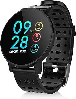 【最新版】スマートウォッチ 万歩計 活動量計 心拍計 1.3インチ大画面スマートブレスレット IP67防水 歩数計 着信通知 音楽制御 運動記録消費カロリー 7種類運動モード 睡眠検測 長い待受時間 smart watch