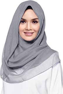 Women's Square Cotton Hijab Scarf One Size