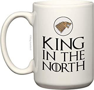 King in the North - Large 15 Ounce Ceramic Coffee Mug by Mug-tastic