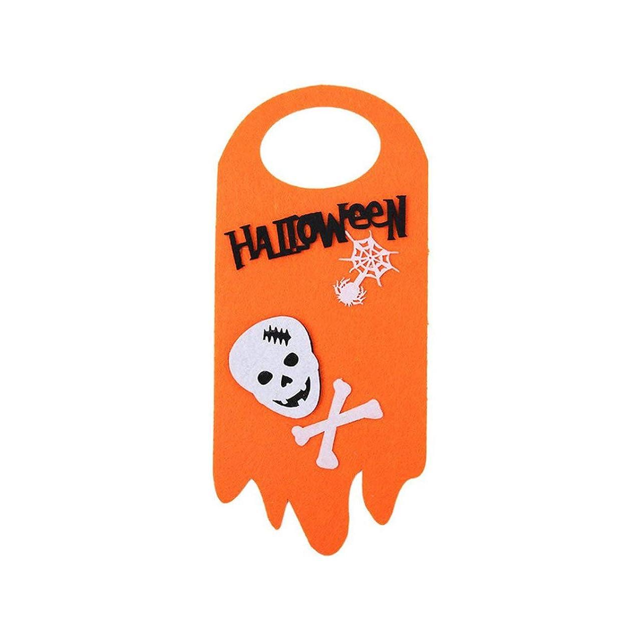 そばに褒賞四分円ハロウィンアレンジメントの小道具パンプキンゴーストキャットドア吊り下げペンダントホテルモールゴーストフェスティバルシーンの装飾