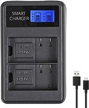 EN-EL15 EN-EL15A Smart Dual Battery Charger for Nikon Z6, Z7, D850, D810, D810A, D800, D800E, D7500, D7200, D7100, D7000, D750, D810, D610, D600, D500, 1v1 Cameras