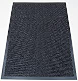 TrendMakers Machine Washable Grey Black Heavy Quality Non Slip Hard Wearing Barrier Mat/Dirt Trapper - 15...