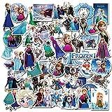 Cartoon Frozen Pegatinas Tomicy 100PCS Frozen Equipaje Piano Coche Bicicleta Graffiti Pegatina Impermeable para Monopatines de Guitarra de Computadora para Coche