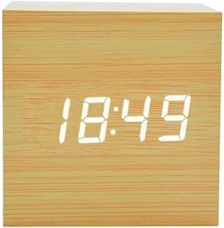 FONCBIEN Despertador Matin Digital de Madera Mini Reloj gráfico Numerique Escritorio Viaje Decoration de casa