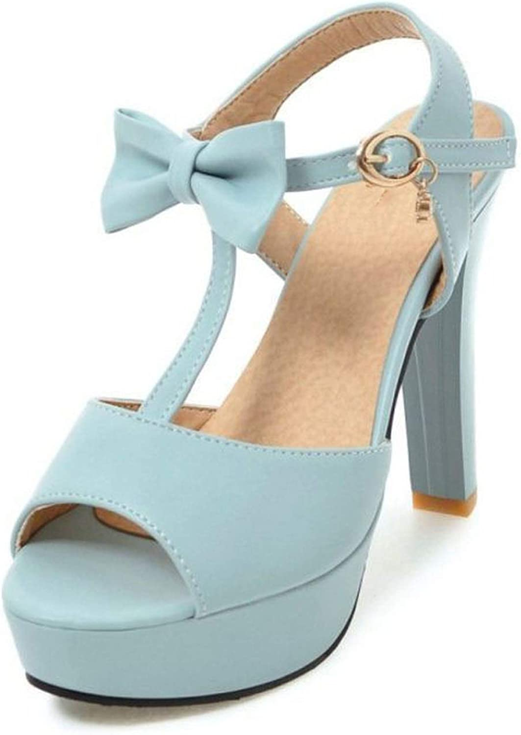 High Heels Sandals Open Toe shoes Women Bowknot T Strap Daily Sandals Platform Lady Sexy shoes