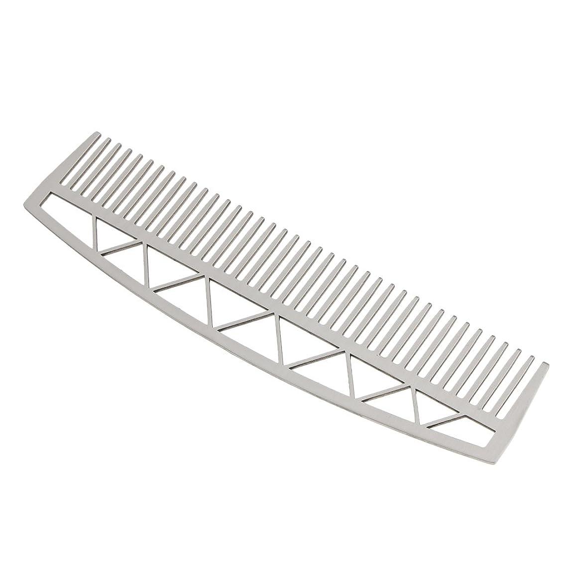 増加する煙突重荷口ひげ ひげ櫛 メンズ ビアードコーム ヘアコーム ステンレス鋼 耐久性 耐熱性 2タイプ - #2