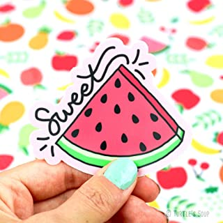 Turtle's Soup Sweet Watermelon Vinyl Sticker [Matte, UV Resistant, Waterproof, Vinyl Decal for Bottles, Laptops, Planners]