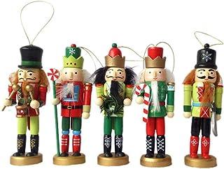クリスマスギフトくるみ割り人形人形王兵士子供部屋の装飾木製おもちゃセット5ピースセット12センチ,A
