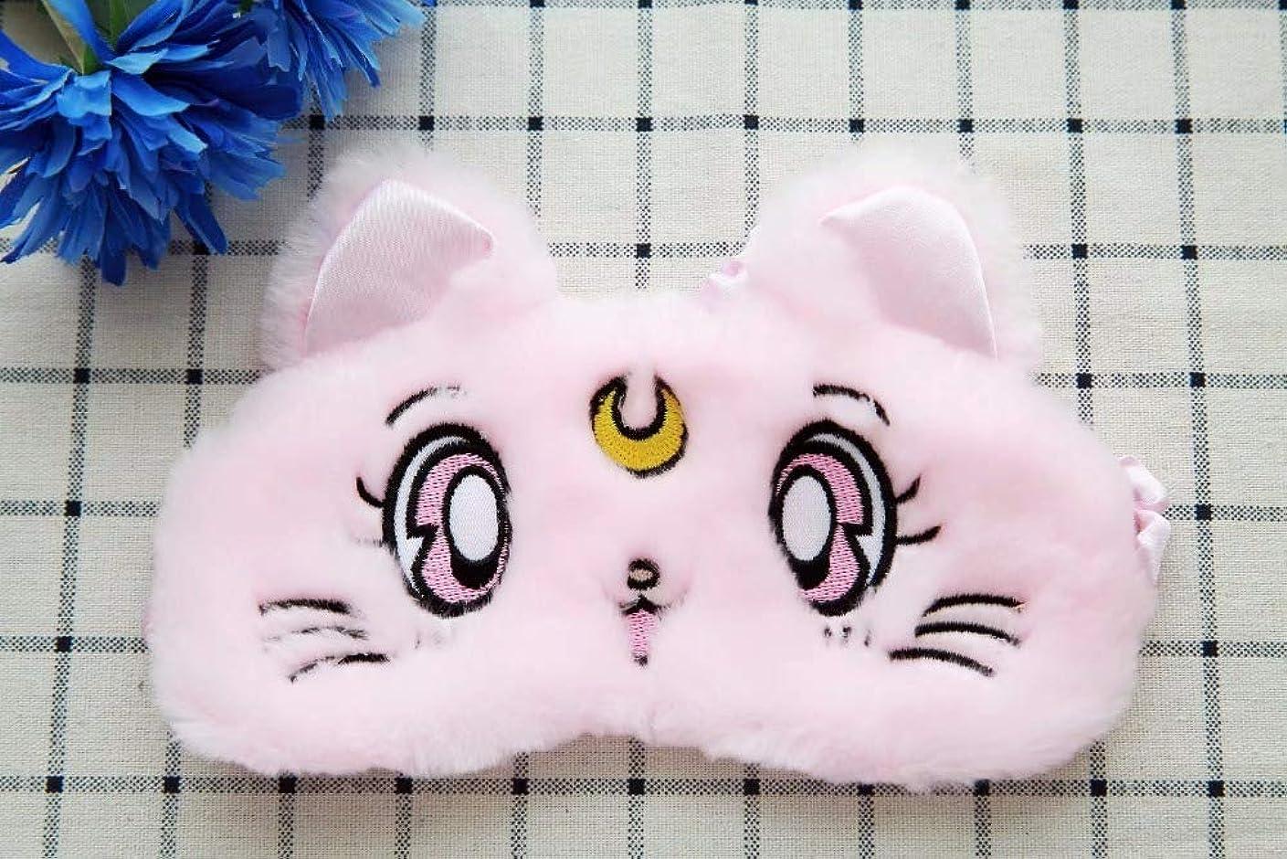 ジョブポルノ安西NOTE 目ケアツール1ピースかわいい猫暖かい柔らかい豪華なアイシェード睡眠マスクブラックマスク包帯用目に睡眠