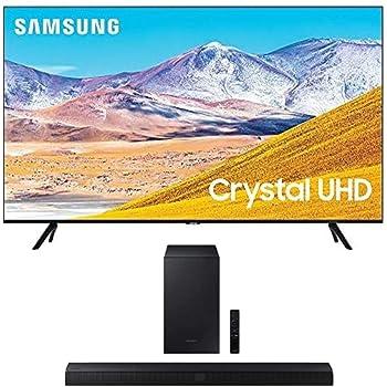 SAMSUNG 75-inch Class Crystal UHD TU-8000 Series - 4K UHD HDR Smart TV with Alexa Built-in + HW-T550 2.1ch Soundbar with Dolby Audio/DTS Virtual:X (2020)