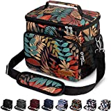 Insulated Lunch Bag for Women/Men - Reusable Lunch Box for Office Work School Picnic Beach - Leakproof Cooler Tote Bag Freezable Lunch Bag with Adjustable Shoulder Strap for Kids/Adult - Autumn