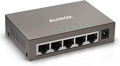 Aumox 5 Port Gigabit Ethernet Network Switch, Desktop, Unmanaged Ethernet Splitter,..