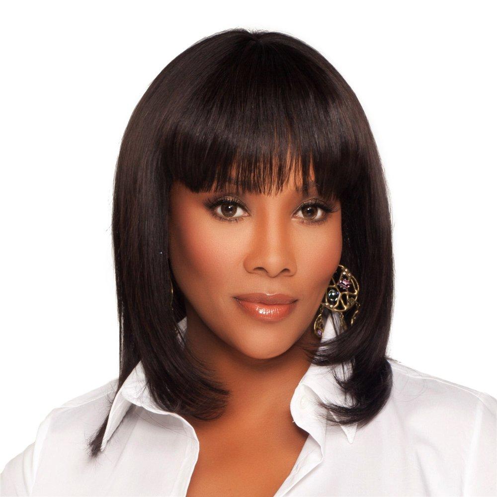 Vivica trust A. Fox H202-V Long Beach Mall Premium Human Hair in Wig 2 PS Cap Color
