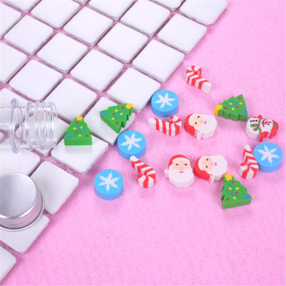 Caja de 4/Set kawaii Cute Christmas Drift botella forma papelería ...
