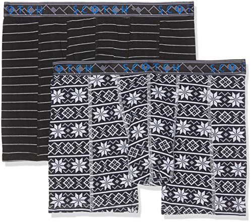 Scotch & Soda heren Classic Boxer Short With Printed Waistband Boxershorts (verpakking van 2)