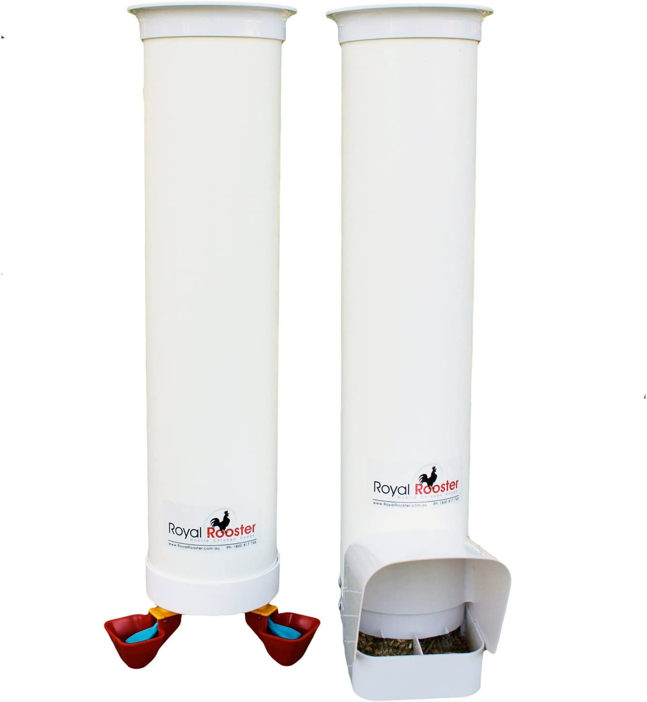 Royal Rooster Cheap SALE Start Duck Feeder with Rain Wat Courier shipping free Twin and Valve-Cup Cover