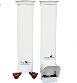 Royal Rooster Duck Feeder with Rain Cover and Twin Valve-Cup Waterer Set – 3kg / 4 litres